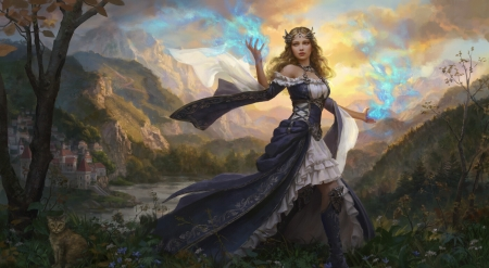 Fantasy girl - may, fantasy, frumusete, luminos, anotherwanderer, girl, laura sava