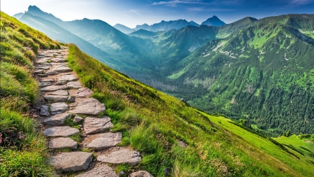 JOURNEY to the MYSTERIOUS WORLD - nature, mountain, rocks, splendor, path, landscape