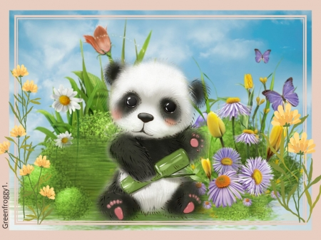 Cute Panda 3d And Cg Abstract Background Wallpapers On