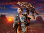 Lady with a Falcon