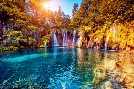 Plitvice Lake - Fall, Prliltice, Waterfalls, Autumn
