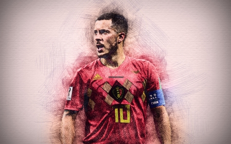 Eden Hazard - soccer, sport, eden, eden hazard, belgian, drawing, football