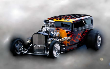 Flame hot rod