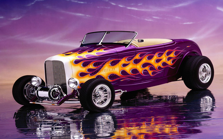 Flame hot rod - rods, hot, flame