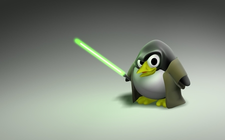 Star Wars Linux - linux, lightsaber, star wars, penguin, star, wars