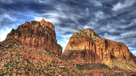 Angels Landing Zion National Park Canyons Nature