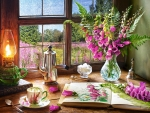Still Life with Violet Foxgloves