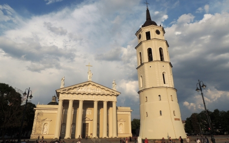 Vilnius Cathedral, Lithuania - cathedral, Lithuania, church, Vilnius