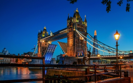 London Tower Bridge - bridge, bridges, nighttime, London Tower, architecture, london