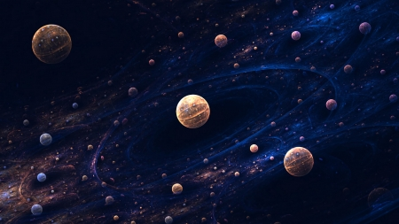 Space Spheres - Planets, Space, Stars, Universe, Galaxies, Spheres