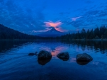 Twilight Lake Reflection