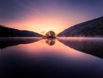 Dawn Reflections in an English Lake