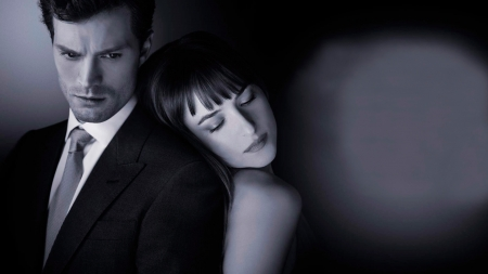 fifty shades of grey - posters, cool, movie, people, black, films, white, actors