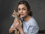 Alia Bhatt with Cat