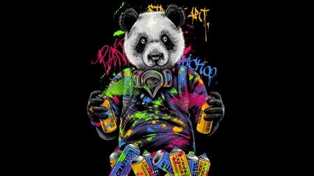 Panda Bear Fantasy Abstract Background Wallpapers On Desktop Nexus Image 2503134