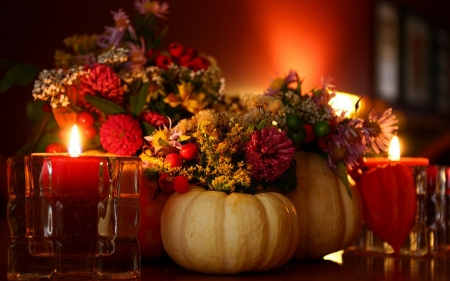 Thanks - Thanksgiving, Candada, Pumpkins, Candle