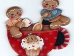 Gingerbread Boys Magnet