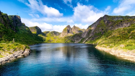 Fjord Norway Lakes Nature Background Wallpapers On