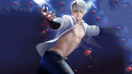 Yuri on Ice - Victor - shirtless, sakimichan, yuri on ice, muscle