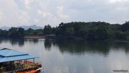 From the Bridge over the River Kwai - Water, Mountains, Sky, Thailand, Phuket, River, Reflections, Kwai