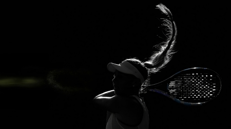 The Backhand - WTA, Entropy, Backhand, Amanda Anisimova, 2560x1440, Tennis, 3k