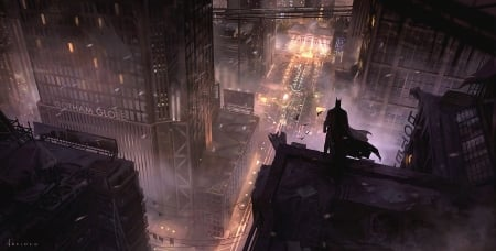 Gotham City Fantasy Abstract Background Wallpapers On