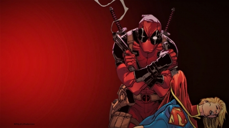 Deadpool The Conqueror Wallpaper - desktop nexus, marvel comics, kara danvers, defeated, dc comics, supergirl, background, cartoon, hd wallpaper, 1920x1080 only, deadpool, anime