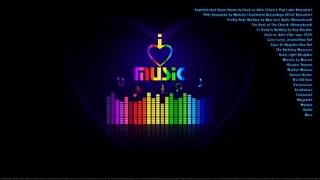 For Music Lovers - heaven, dance, motivational, muisc, rock, sick, religious, rainbow colors, new wave, for music lovers, love, electronic, happiness, exercise partner, fun, peace, joy, goth, cool, off the chain, thrash, entertainment, fitness partner
