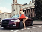 Model Posing with an Audi S5