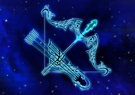 Zodiac Sagittarius Fantasy Abstract Background Wallpapers On