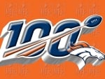 Denver Broncos NFL 100 years logo