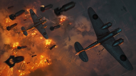 Battlefield - world, Fight, plane, war