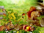 Squirrels Fall Friends