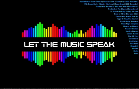 Music Speaks - dance, motivational, colorful, sick, religious, rainbow colors, new wave, love, heave, metalcore, happiness, music, numetal, exercise partner, fun, peace, joy, off the chain, cool, thrash, entertainment, fitness partner, dubstep