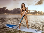 Emily Willis on a Paddle Board