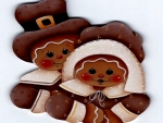 Thanksgiving Gingerbread Family
