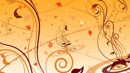 Fall Doodles - Firefox theme, fall, leaves, autumn, vines, swirls, abstract, doodles
