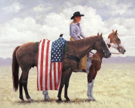 American Flag Fantasy Art