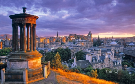 Stewart monument Calton Hill Edinburgh Scotland - Hill, Calton, Monument, Edinburgh, Scotland, Steart