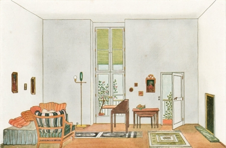 1928 Room - room, orange, white, airy