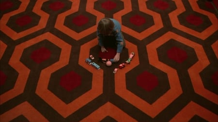The Shining - overlook hotel, The Shining, playing, movie, horror, Danny, carpet