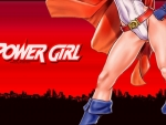 Power Girl Over The City