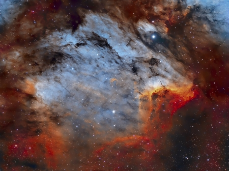 The Pelican Nebula in Gas, Dust, and Stars - galaxies, space, stars, planets, cool, fun