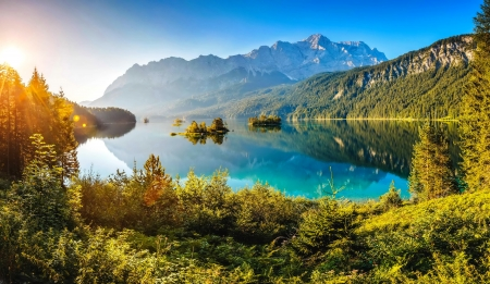 Eibsee Lake Lakes Amp Nature Background Wallpapers On