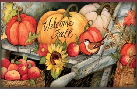 Welcoming Fall Pumpkins - welcoming, season, autumn, pumpkins, greetings