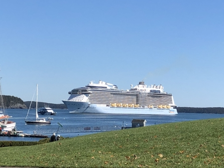 Cruise Ship in Bar Harbor, Maine - Harbors, Cruise Ships, Oceans, Nature