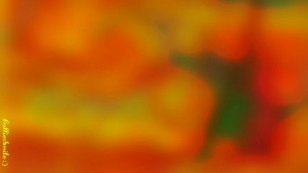 Autumn Afternoon Abstract - blurry, b1urred, Orange, green, scarlet, Autumn colors, golden yelow, abstract, Fall