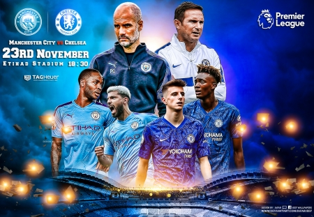 Manchester City Chelsea Soccer Sports Background