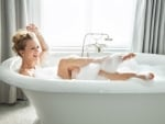 A.J. Cook Playing in her bath