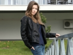 Mila Azul Looking Tough in Leather